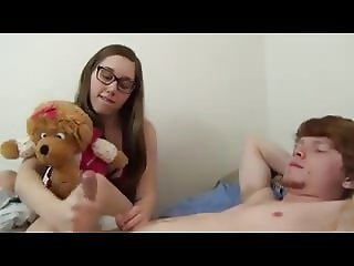 Cute Sister gives a Tugjob
