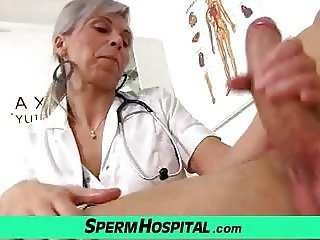 CFNM hospital porn with an European milf Beate