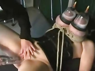 Huge lactating tits in vacuum.mp4
