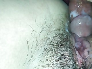 Pregnant Asian fucked and takes massive creampie!