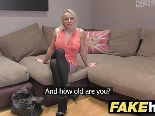 Fake Agent UK Cute horny MILF with shaven pussy fucking
