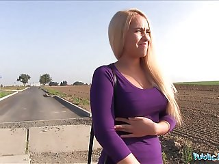 Public Agent Teen blonde Briana Bounce with real big boobs