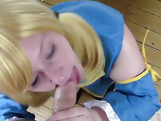 Busty Anime Cosplay Girl Doggystyle Creampie POV