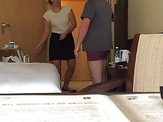 Maid bulge flash cock.mov
