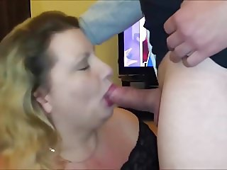 Mature BBW Blowjob - He Cums in her Mouth