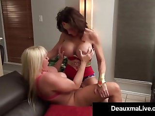 Super Hero Deauxma StrapOn Fucks Lesbo Hero Alexis Golden!