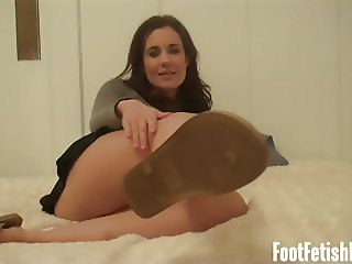 Lick my dirty shoes clean you foot freak