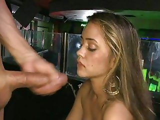 Girl taking facial at the club
