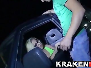 Krakenhot - Amateur couple in dogging public sex scene