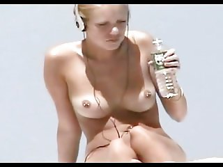 Nude Beach - Hot Pierced Teen Blond