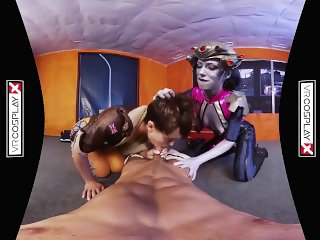 VR Cosplay X Threesome With Widowmaker And Tracer