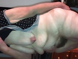 Big Hairy Kay's pussy from the back