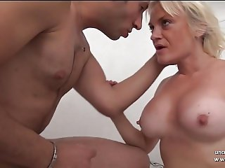 Huge titted amateur french milf ass nailed and creamed