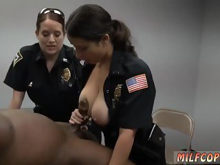 Interracial black anal Milf Cops