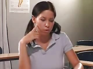 STP7 Horny Schoolgirl Seduces And Fucks Her Teacher !