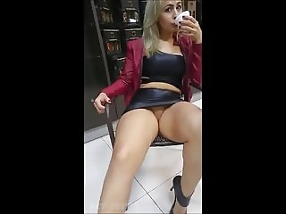 Sexy prostitute - Flashing pussy