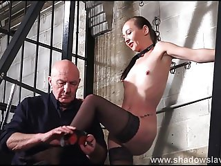 Stinging nettle bdsm and amateur bondage of tortured slaves