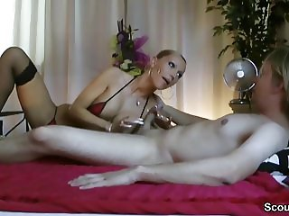 German Step-Mom teach Son to Fuck and lost Virgin