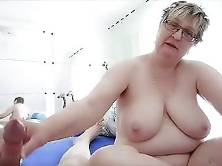BBW Makes His Cock Gush With Cum