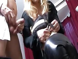 Wife brings a date home to meet her sissy husband