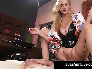 Boy Toy Gets Smothered By Glamorous Milf Julia Ann's Pussy!