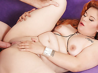 Fat Redhead Sucks a Thick Cock and Fucks