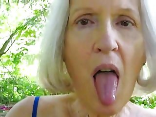 Mature sue gagging on her husbands cock