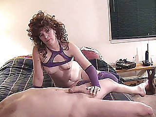 FOXY MATURE MAKES LOSER JERK OFF WHILE HE EATS HER PUSSY