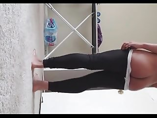 topless tamil girl shreya showing her ass during exercise