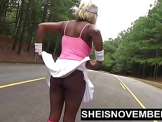 Walking In Public Flashing My Pussy And Big Ebony Tits & Ass
