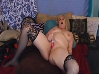 Chunky blonde with huge butt for spanking