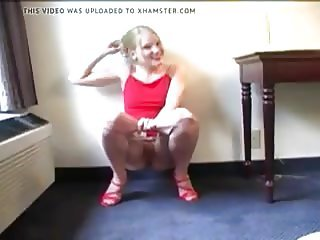 Milf Amateur Red Dress Pee