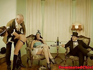 Lovely maid dominated by maledom