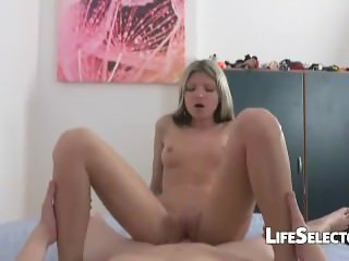 Gina Gerson - Petite blonde loves it from behind