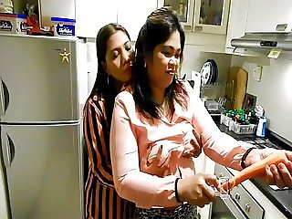 Pissy fun in the kitchen