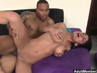 AdultMemberZone - Middle Eastern slut spreads for her first black cock