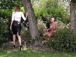 Mistress Danielle Maye ravages her Submissive before Ass Fuc