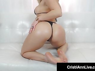 Asian Teen Cristi Ann Oils Her Big Ass Tits Feet & Pussy!