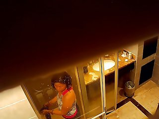 asian wife hidden shower at hotel part2
