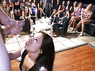 Petite Babe Fucks Big Cock At CFNM Party