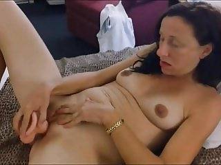 Granny Lactating Milky Tits Dildo Ass Licking Rim Job