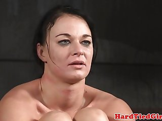 BDSM sub toyed by maledom using vibrator