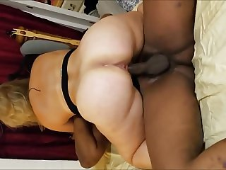 Whore wife riding a black cock