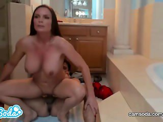 MILF AND TEEN IN BATHTUB