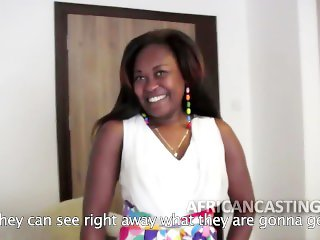 Big ass African slut at casting call