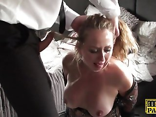 Submissive british MILF assfucked and spanked