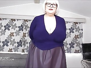 Leather skirt and holdups