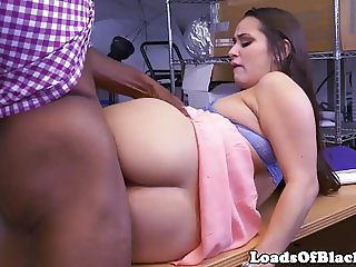 Busty casting babe sucks and rides bbc