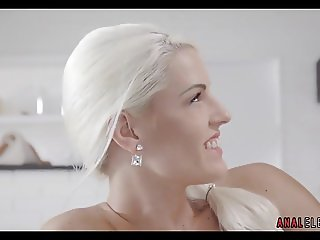 Teen Blonde Amateur With Big Tits Tries Anal