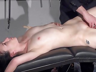 Gagged amateur slaves sextoy domination and spanked blowjob